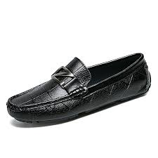 men s shoes fashion casual loafers genuine leather driving shoes black size 38 44