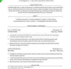 Resume For Bartender Inspiration Bartenders Resume Example Examples Of Bartender Resumes Server
