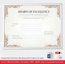 microsoft office certificate template certificate of excellence template certificates of excellence psd