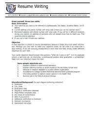 How To Write Career Objective In Resume Writing A Career Objective