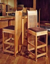 wooden bar stool plans