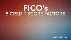 Credit Score Breakdown Pie Chart Ficos 5 Credit Score Factors