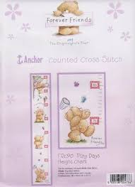 Cross Stitch Height Chart Kit Play Days Height Chart Growth Chart Cross Stitch Kit