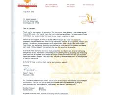 Thank You Letter For Food Donation Sample Thank You Letter For Donation Fundraiser Example Fundraising