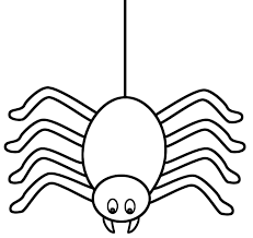 Small Picture spider web coloring page cute halloween spider coloring page