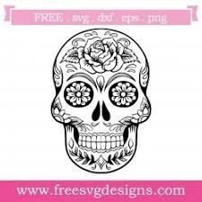 Free coreldraw vectors (.cdr) files of skull. Free Svg Files Svg Png Dxf Eps Sugar Skull Design
