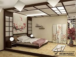 Japanese interior design - bedroom ceiling lights