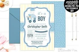 Free Printable Baby Invitations Baby Shower Invite Template Free