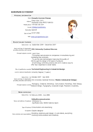 European Resume Template Resume Template Simple Snapshoot Europass Home European Format 9