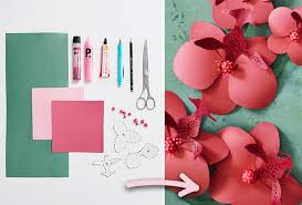 Paper Orchid Flower Diy Paper Orchids Sewing Blog Burdastyle Com