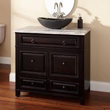 36 white bathroom vanity with black top. 36\ 36 white bathroom vanity with black top b