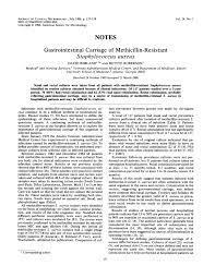 PDF) Gastrointestinal carriage of methicillin-resistant Staphylococcus  aureus