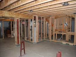 framing a basement wall. Basement Framing Inside Corner With Interior Walls And Into Concrete A Wall M