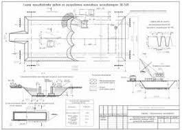 Производство земляных работ и устройство фундаментов  Схема разработки котлована экскаватором