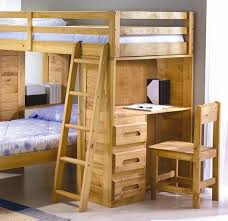 bedroom full loft bed with desk side underneath for children study combined king single bunk larga