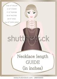 Choker Length Chart Necklace Chain Size Chart Necklace Length Royalty Free