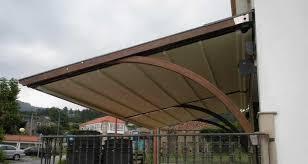 wall mounted pergola wooden fabric sliding canopy modular