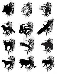 Vektorová Grafika Zvířata Tetování 5373606 Fotobanka Fotkyfoto
