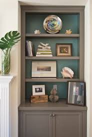 painting shelves ideasDIY built in bookcases love the paint in the shelves  home