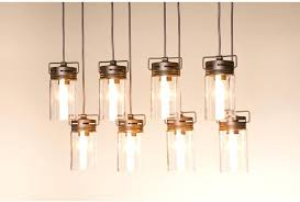 full image for allen roth vallymede 2547in aged bronze barn multilight clear glass jar pendant allen