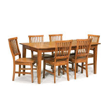 display reviews for arts crafts cottage oak 7 piece dining set with dining