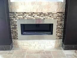 subway tile fireplace surround mosaic glass mantels