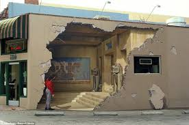 at first glance it looks like an earthquake destroyed the walls of this building amazingly it s just an optical illusion even the woman looking inside  on 3d wall art woman with huge 3d wall murals are off the wall john pugh 12 pics