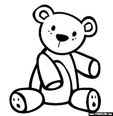 Small Picture The Teddy Bear Coloring Page Free The Teddy Bear Online Coloring