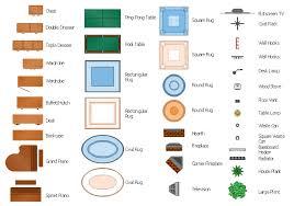 Simple Floor Plan Furniture Symbols Bedroom Wood Stove Waste Can Wastebasket Wardrobe For Innovation Ideas