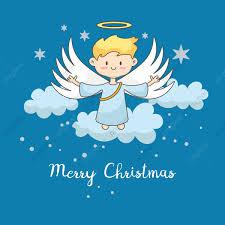 Süßer Engel Mit Weihnachtsstern Hintergrund Weihnachten