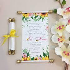 Scroll Birthday Invitations Frozen Fever Sunflower Inspired Scroll Birthday Invitation Princess