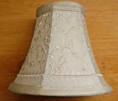 onepre cream linen clip on lamp shades small candle chandelier lampshade bell 6 inch