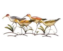 on metal wall art bathroom with strolling sandpipers decorative wall art