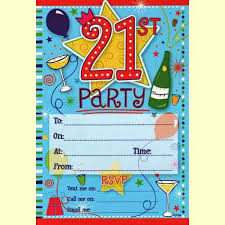 Party Invitations 21st Birthday Party Invitations Blue In Packs Of 20 Party Wizard
