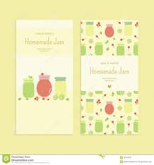 Apple Flyer Templates Set Of Flyer Templates With Fruit Jam Stock Vector Illustration Of