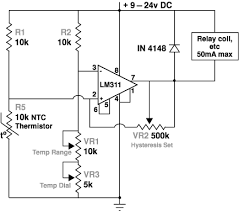 craig s thermostat circuits simple version thermostat schematic