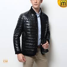 black leather down jacket cw848332 jackets cwmalls com