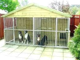 dog kennel large outdoor with roof cover