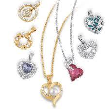 heart pendant jewellery box set