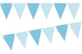 Triangle Banner Light Blue Polka Dot Solid Light Blue 10ft Vintage Pennant Banner Paper Triangle Bunting Flags For Weddings Birthdays Baby Showers Events