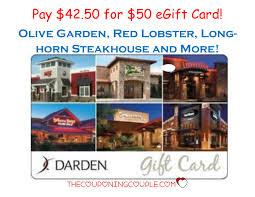 50 darden egift card for 42 50 olive garden red lobster longhorn steakhouse more