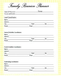 Registration Form Templates For Word Family Reunion Registration Form Template Word Inspirational On