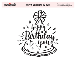 Our website is updating everyday. Happy Birthday Coloring Pages 10 Free Happy Birthday Printables