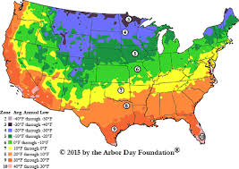Us Growing Zone Chart Hardiness Zone Map At Arborday Org