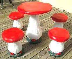 mushroom stool video game theme custom furniture. Exellent Video Mushroom Stool Table And Stools Concrete  4 Made Throughout Mushroom Stool Video Game Theme Custom Furniture