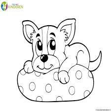 Puppy Kleurplaat Cub Hond Grappig Tekening Puppy Van Zwarte Lijnen