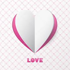 Love Card Design Paper Heart Love Card Template For Design Greeting Card