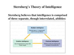 Sternberg Intelligence Sternberg Ppt Powerpoint