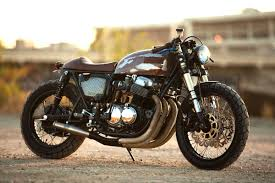 the 750 cb750 cafe racer by strapped mfg bikebound