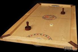 Wooden Puck Game Unique Shuffle Puck Game A Wooden Version Of Air Hockey Extremely Fast